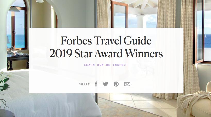 【2019年】台湾ホテルのフォーブストラベルガイド格付け一覧
