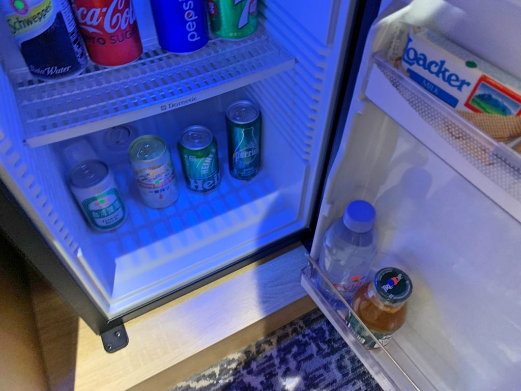 シェラトン台北の冷蔵庫
