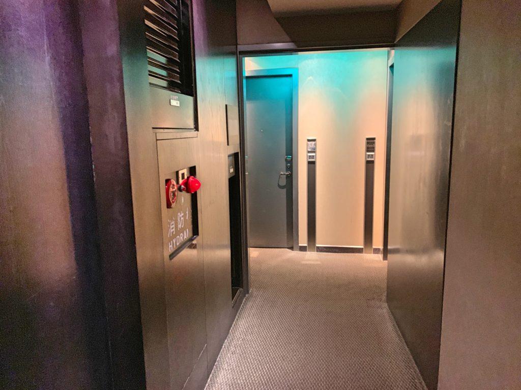 タンゴホテル台北南西館の廊下