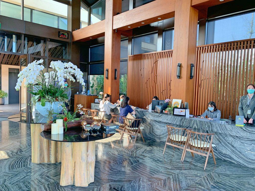 ウェスティン宜蘭リゾートのフロントロビー