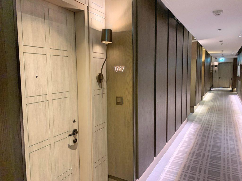 台北マリオットホテルの廊下