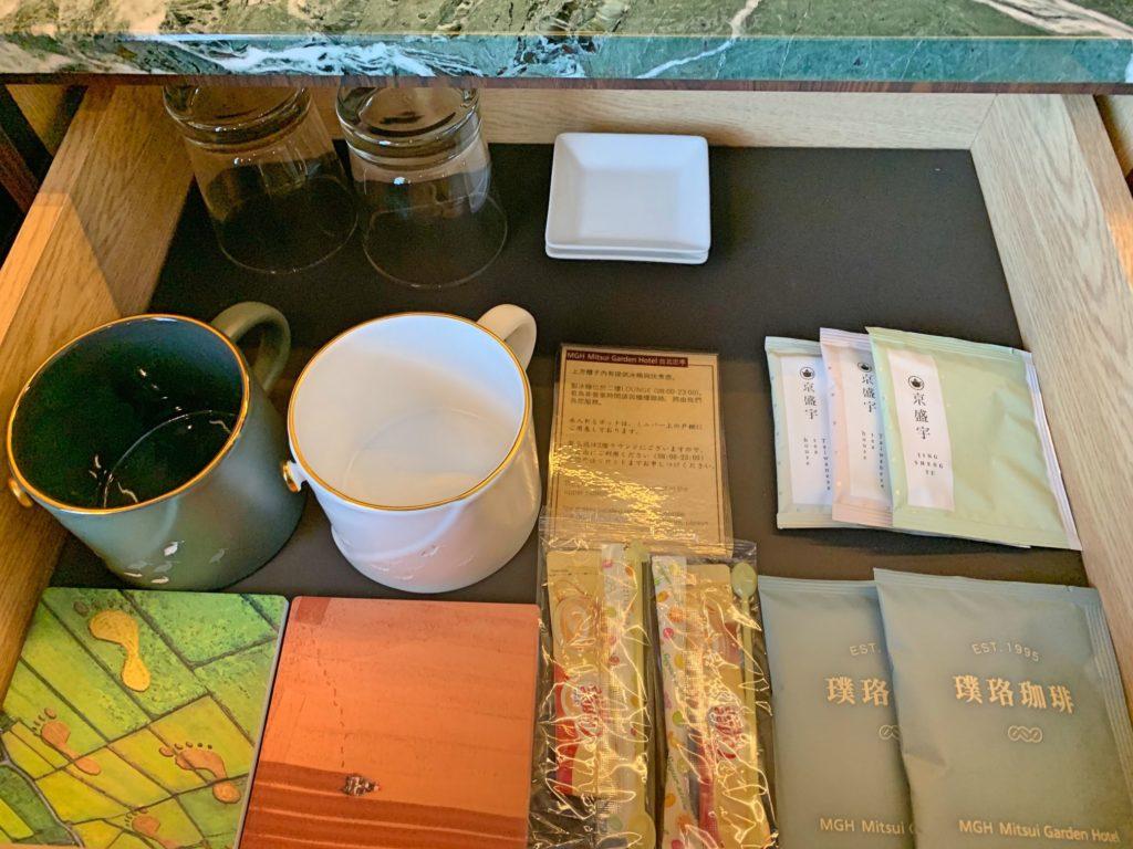 三井ガーデン台北のお茶