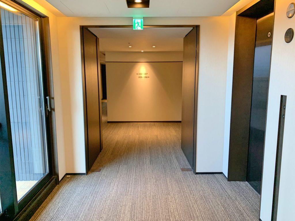 三井ガーデン台北の廊下