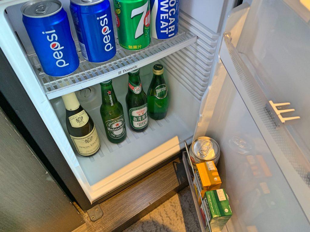 ルメリディアン台北の冷蔵庫