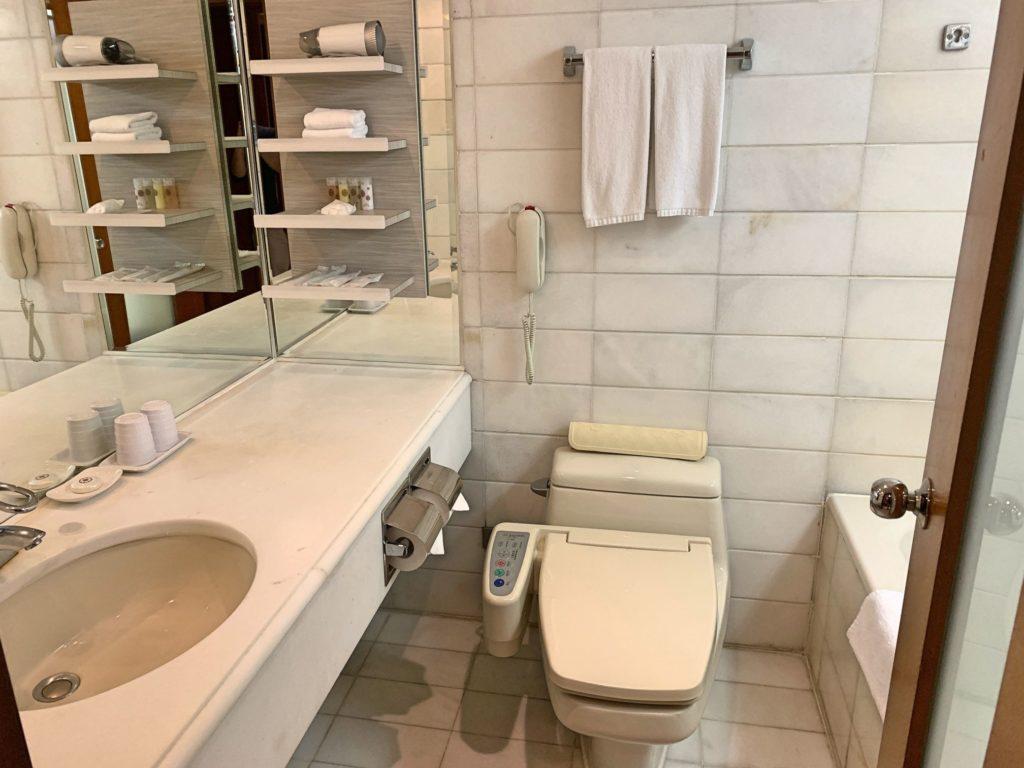 グロリアプリンスホテルのトイレ