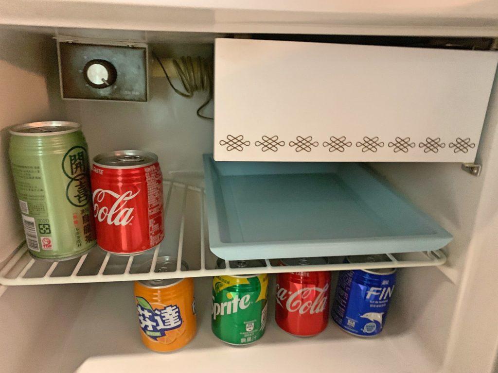 グロリアプリンスホテルの冷蔵庫