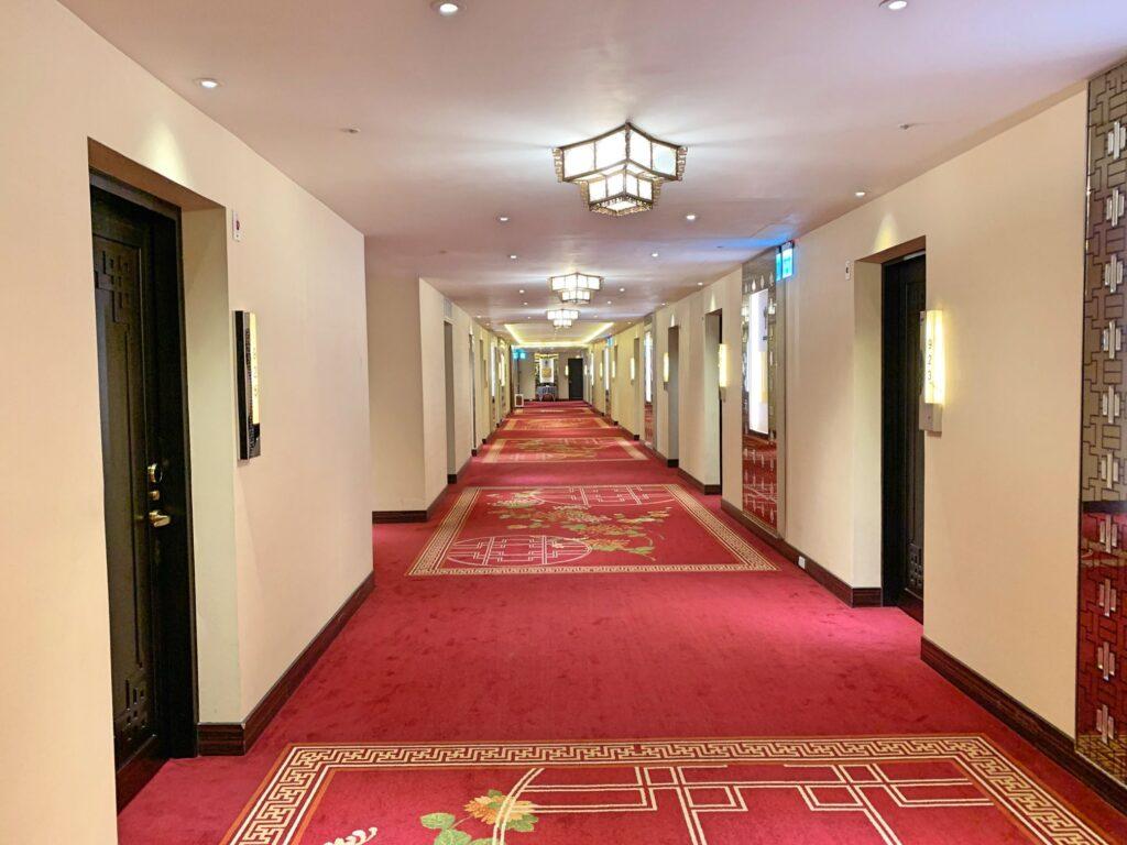 グランドホテル台北の廊下