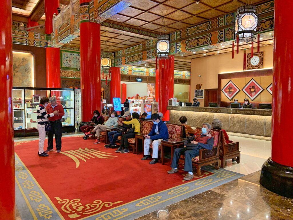 グランドホテル台北のフロントロビー