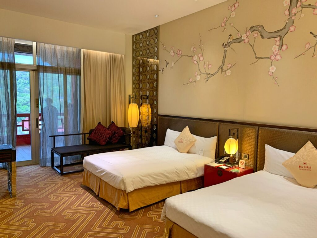 グランドホテル台北のベット