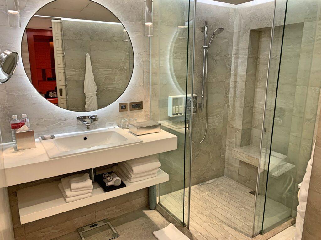 グランドハイアット台北のシャワールーム