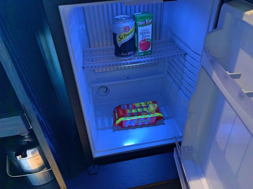 ホテルレゾナンス台北の冷蔵庫