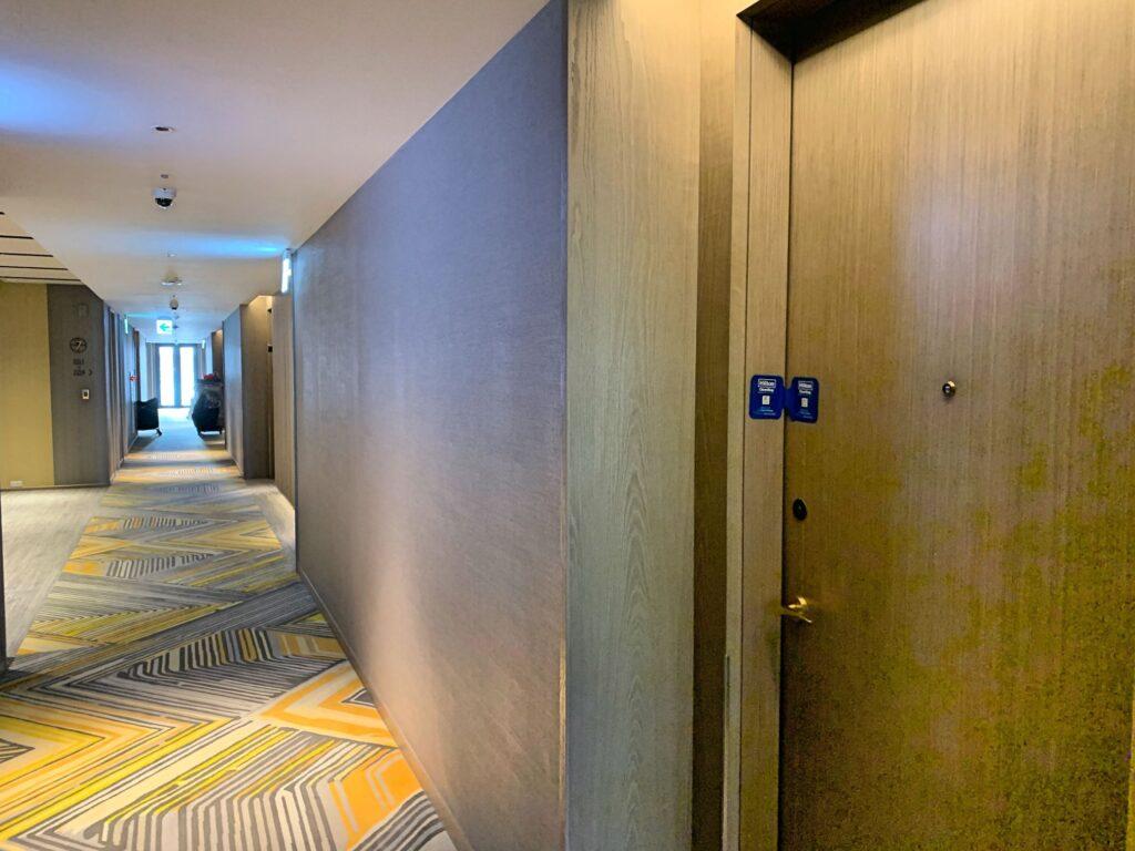 ホテルレゾナンス台北の廊下