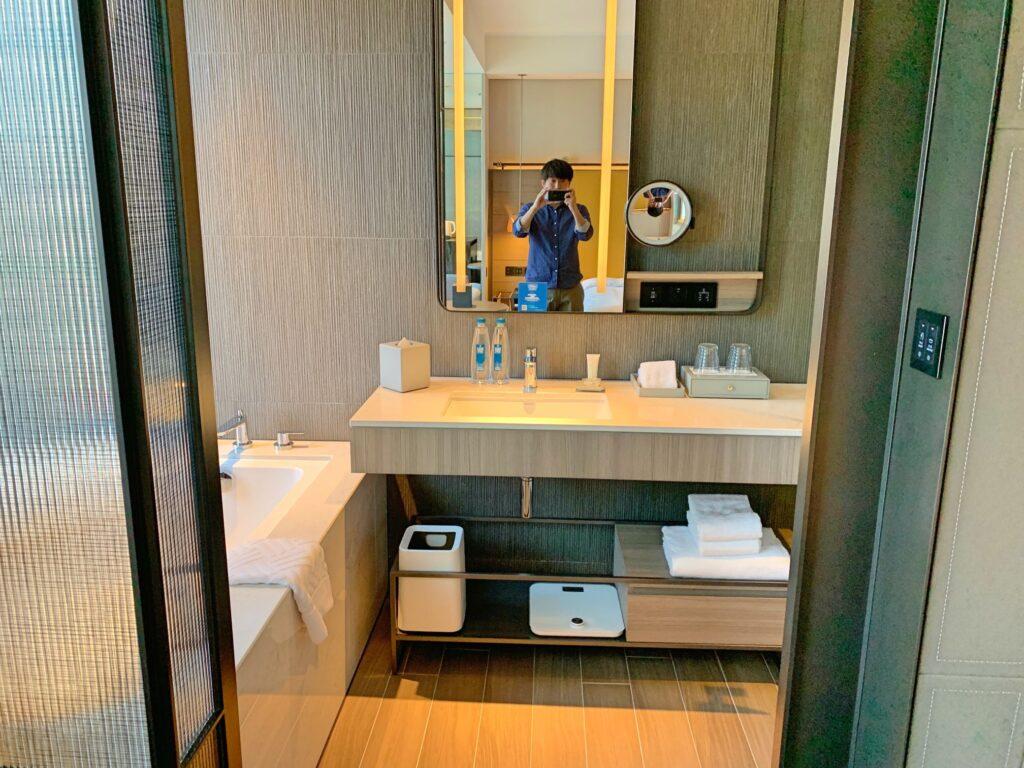 ホテルレゾナンス台北のバスルーム