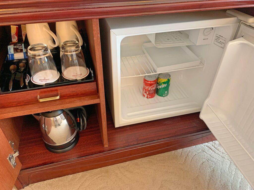 ハワードプラザ台北の冷蔵庫