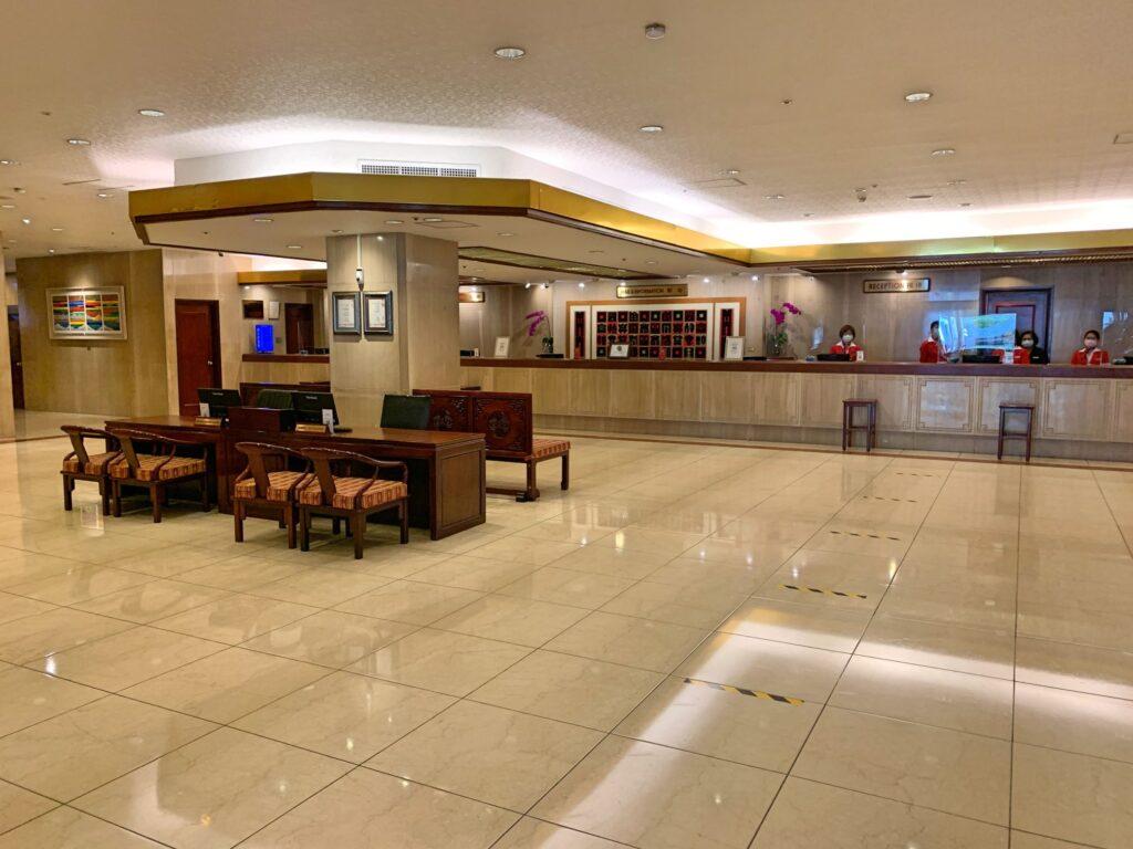 ハワードプラザ台北のフロント